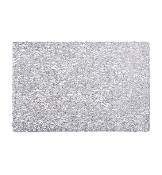 ZELLER SCRIBBLE Prostokątna podkładka PCV na stół 30 x 45 cm / srebrna