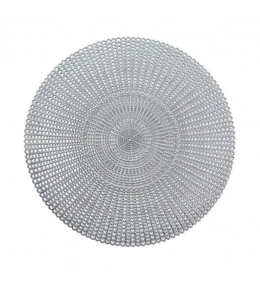 ZELLER CUT OUT Podkładka PCV na stół ø 41 cm / srebrna