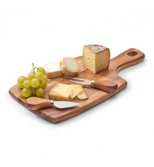 ZELLER Zestaw do serwowania sera 3 elementy / drewno akacjowe