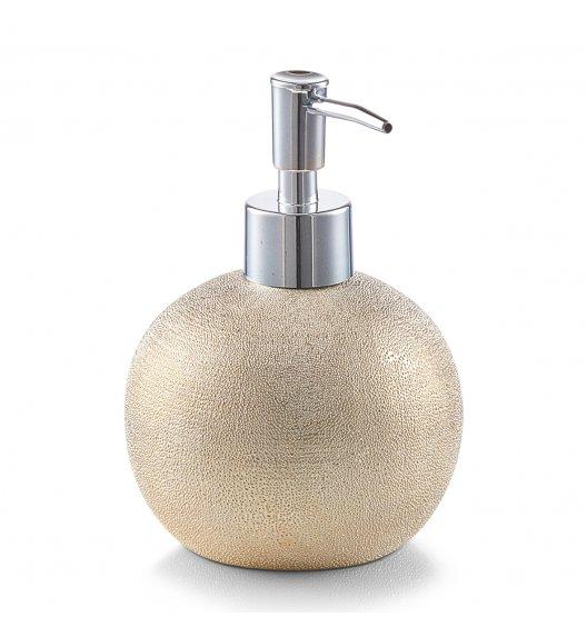 ZELLER GLITTER GOLD Dozownik do mydła w płynie Ø10,3 cm / kamionka