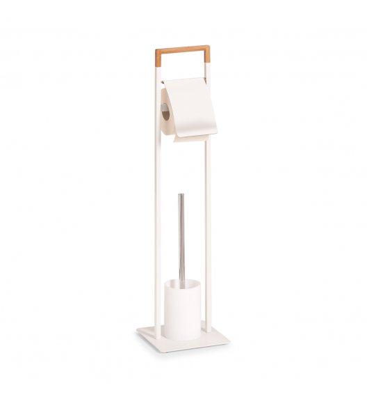 ZELLER Zestaw toaletowy z drążkiem na papier toaletowy / drewno bambusowe + stal nierdzewna