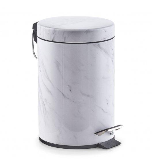 ZELLER MARMUR Kosz na śmieci 3 l / imitacja marmuru