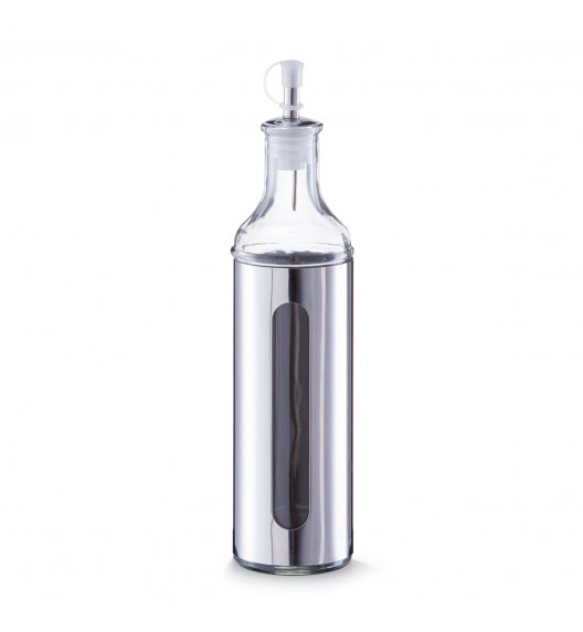 ZELLER Butelka na oliwę / olej 500 ml / stal nierdzewna + szkło
