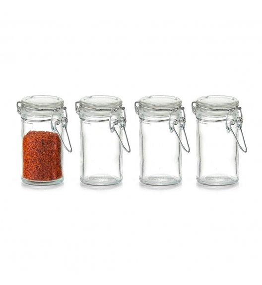 ZELLER Zestaw 4 mini słoiczków na przyprawy / szkło