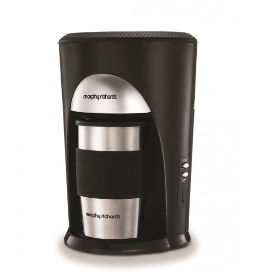 MORPHY RICHARDS ONE THE GO Ekspres przelewowy do kawy + kubek termiczny / 162740