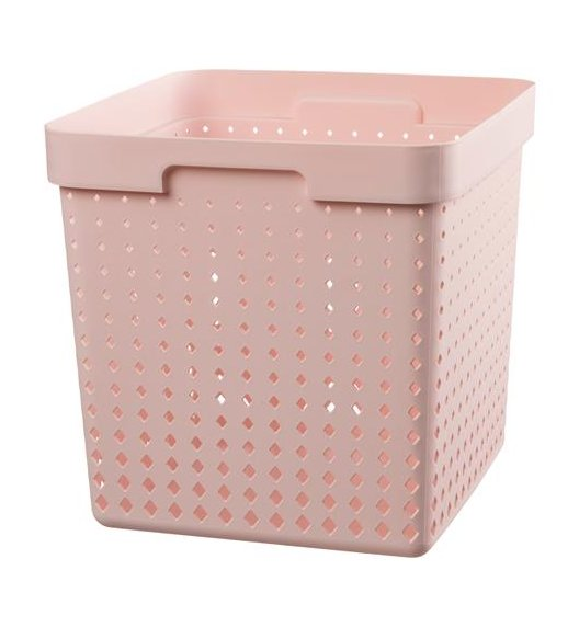PLAST TEAM SOUL Organizer / koszyk 30 x 30 x 30 cm / pudrowy / DELHAN