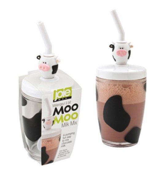WYPRZEDAŻ! MSC Szklanka do kakao z mieszadłem i słomką 0,25 l MOO MOO / FreeForm