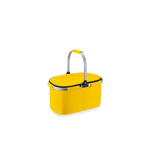 Koszyk termiczny składany Tescoma Coolbag 45x25x28 cm w kolorze żółtym. 892350.12 Zobacz film.
