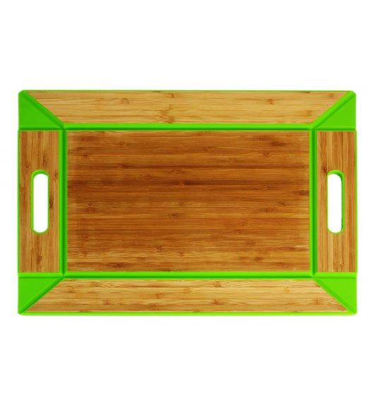 FREEFORM Taca do serwowania z drewna bambusowego / zielona / dwustronna / LENA