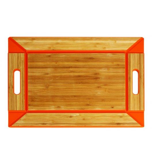 FREEFORM Taca do serwowania z drewna bambusowego / pomarańczowa / dwustronna / LENA