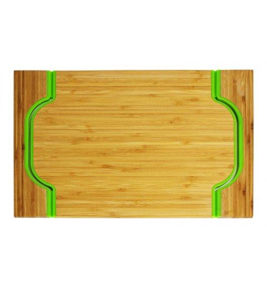 FREEFORM Taca do serwowania z drewna bambusowego z uszami / zielona / LENA