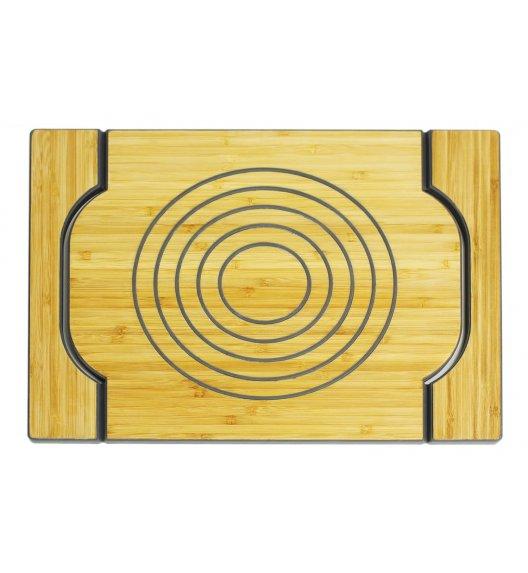 FREEFORM Dwustronna taca do serwowania szara / drewno bambusowe + silikon / LENA