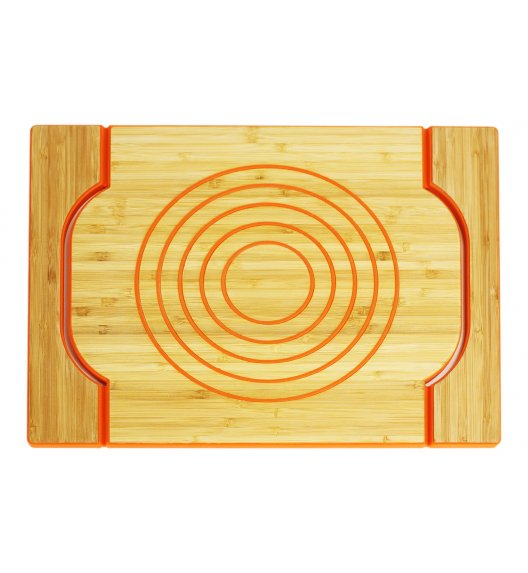 FREEFORM Dwustronna taca do serwowania pomarańczowa / drewno bambusowe + silikon / LENA
