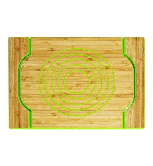 FREEFORM Dwustronna taca do serwowania czerwona / drewno bambusowe + silikon / LENA