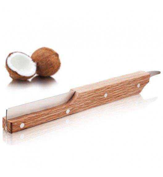 TOMORROW'S KITCHEN Otwieracz do kokosa / stal nierdzewna + drewno / LENA
