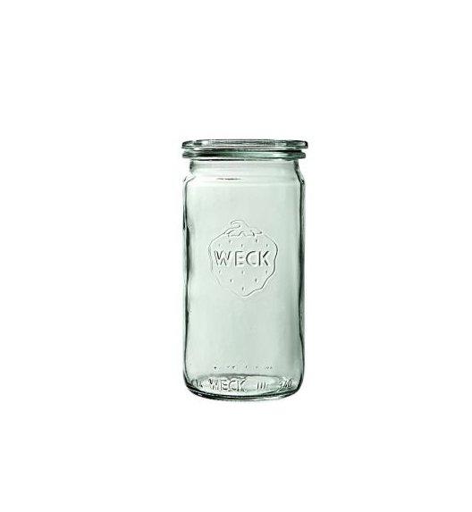WECK Komplet 6 słoików cylindrycznych na przetwory bez pokrywki 340 ml