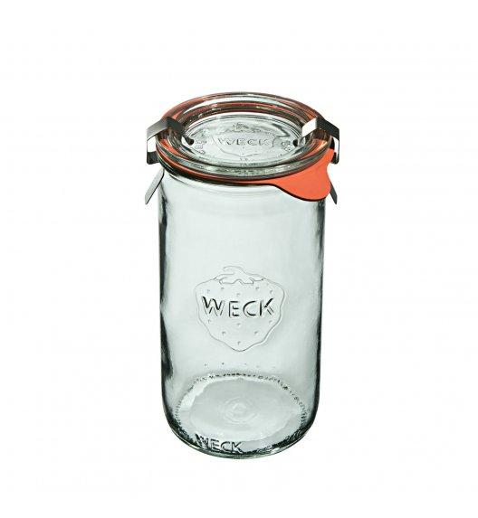 WECK Komplet 6 słoików cylindrycznych na przetwory z uszczelką i 2 zapinkami 340 ml / szkło