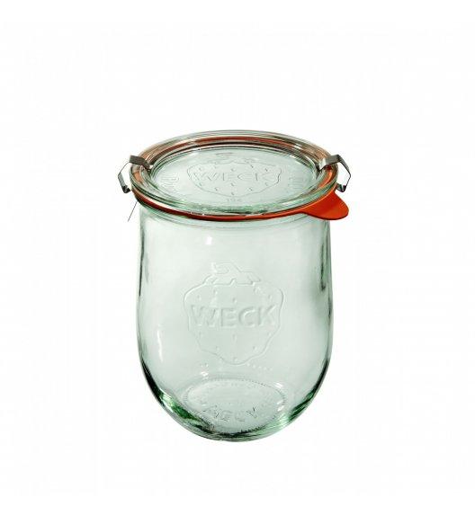 WECK TULIP Komplet 6 słoików na przetwory z uszczelką i 2 zapinkami 1062 ml / szkło / TG HOME
