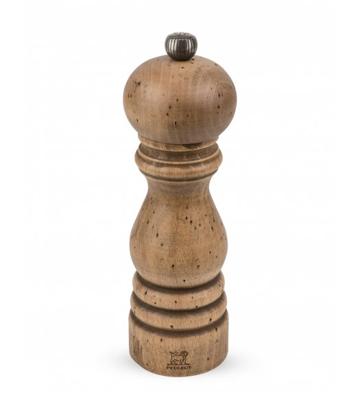 PEUGEOT ANTIQUE Młynek do soli 18 cm / drewno bukowe ręcznie postarzane