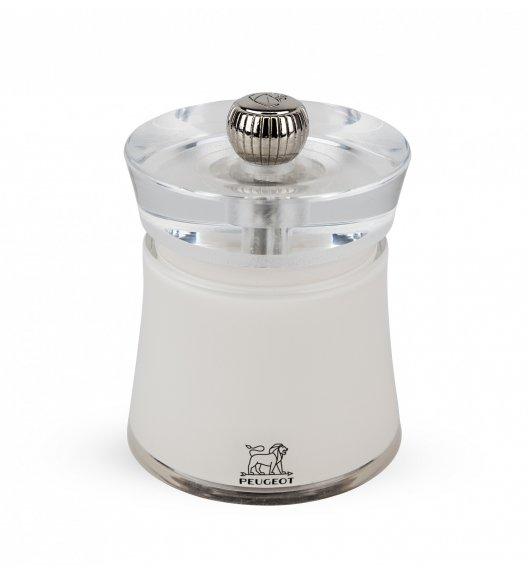 PEUGEOT BALI Młynek do soli 8 cm / biały / akryl + stal nierdzewna