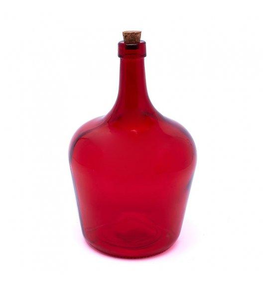 TADAR PEAR Butelka z korkiem na oliwę 2,0 l / czerwona / szkło