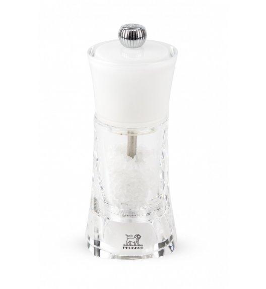 PEUGEOT MOLENE Młynek do soli 14 cm / biały / akryl + stal nierdzewna
