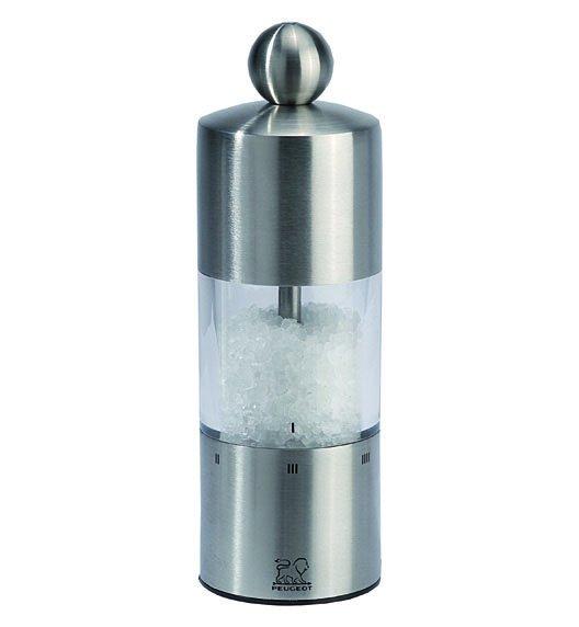 PEUGEOT COMMERCY Młynek do soli 21 cm / stal nierdzewna Inox + akryl / TG HOME