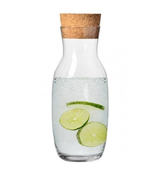 KROSNO PURE Karafka 1 l z naturalnym korkiem / szkło wysokiej jakości