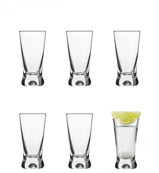 KROSNO BASIC SHOT Komplet kieliszków do wódki 6 el / 50 ml / szkło wysokiej jakości