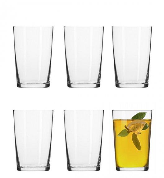 KROSNO BASIC Komplet rozchylanych szklanek do herbaty / 6 el / 250 ml / szkło wysokiej jakości