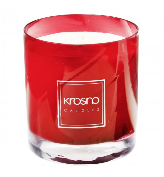 KROSNO AMBRE TOUREG Świeca zapachowa 280 g / czerwona / piżmo, drzewo sandałowe / długi czas palenia
