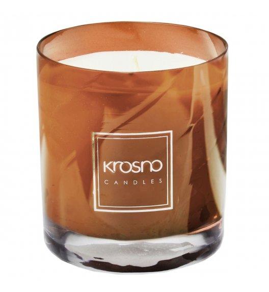 KROSNO FIGUE VANILLE Świeca zapachowa 280 g / brązowa / nuta figowa / długi czas palenia