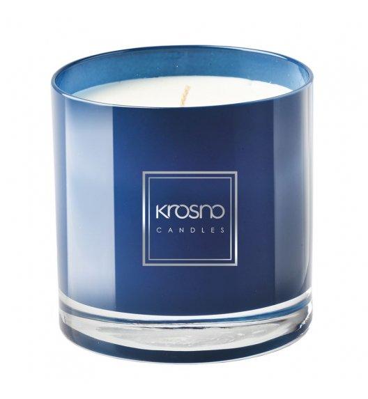 KROSNO WOMAN IN BLUE Świeca zapachowa 260 g / niebieska / piżmo / długi czas palenia
