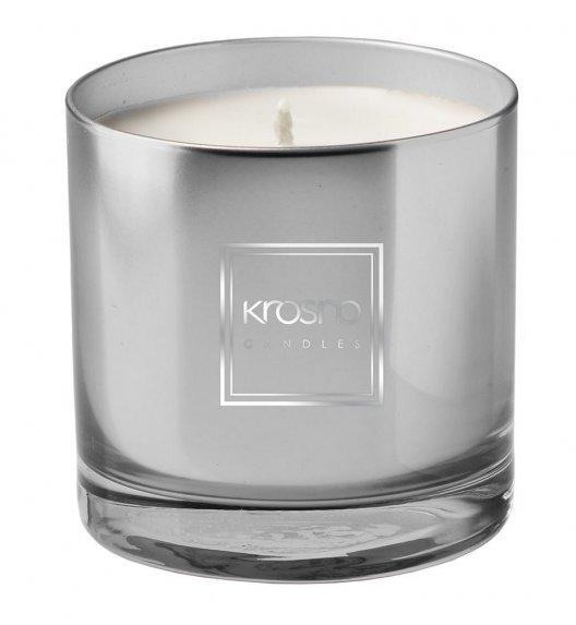 KROSNO SKYLITE Świeca zapachowa 260 g / szara / nuta ziołowa / długi czas palenia