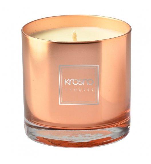 KROSNO ANTHRACIT Świeca zapachowa 260 g / złota / goździk, wanilia / długi czas palenia