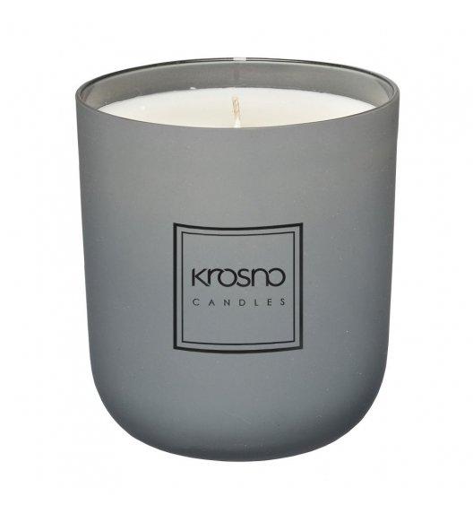 KROSNO BASIL MANDARIN Świeca zapachowa 250 g / szara / piżmo, biały cedr / długi czas palenia