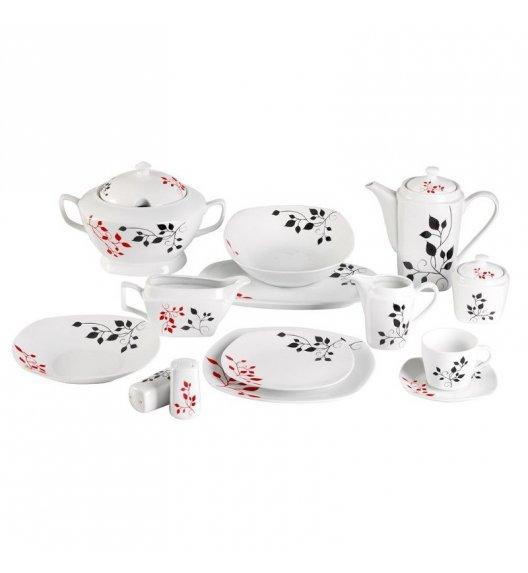 WYPRZEDAŻ! TADAR ROMANTICA Serwis obiadowo-kawowy 71 elementów dla 12 osób / porcelana