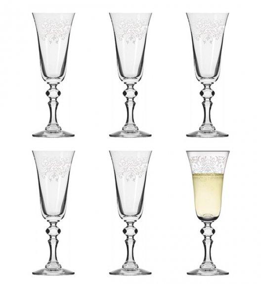 KROSNO KRISTA DECO Komplet kieliszków do szampana 150 ml / 6 el / szkło wysokiej jakości