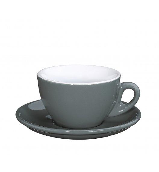CILIO ROMA Filiżanka do cappuccino ze spodkiem 100 ml / szary / FreeForm
