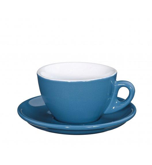 CILIO ROMA Filiżanka do cappuccino ze spodkiem 100 ml / niebieska / FreeForm