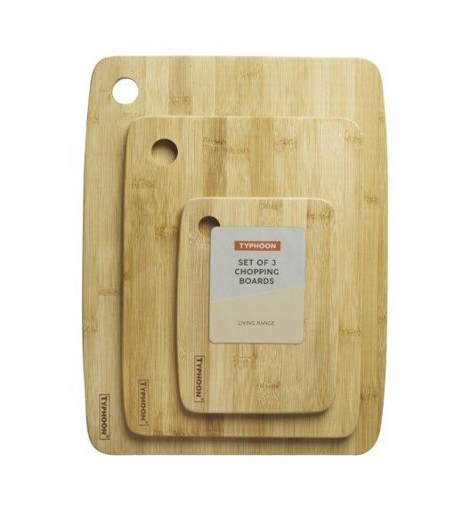 TYPHOON LIVING Komplet 3 desek do serwowania / drewno bambusowe / Btrzy