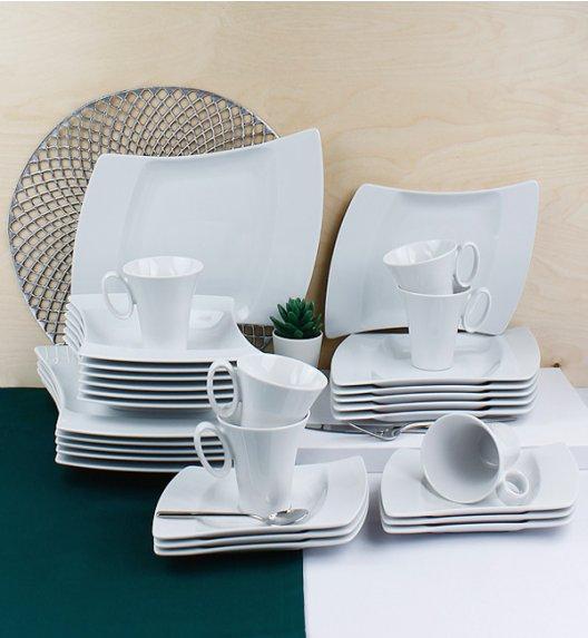 LUBIANA WING Serwis obiadowo-kawowy 30 el / 6 osób / porcelana + GRATIS! 49 ZŁ