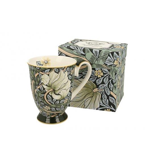 DUO GREEN Kubek na stopce 325 ml / inspirowana dziełami Williama Moriss'a / porcelana
