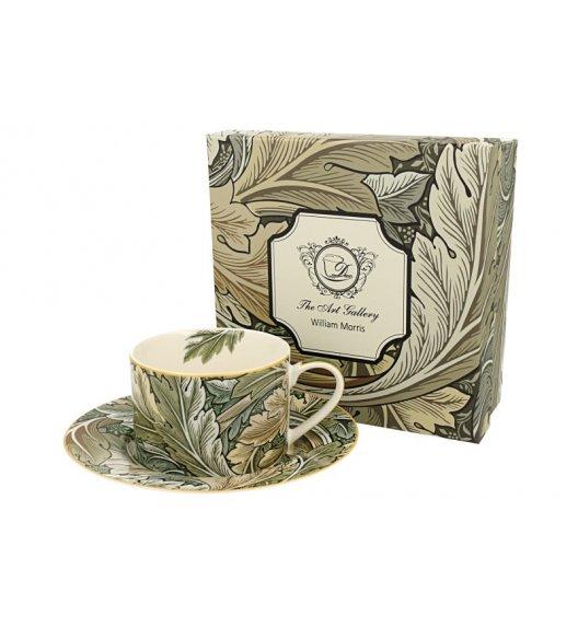 DUO AUTUMN Filiżanka ze spodkiem 240 ml / inspirowana dziełami Williama Moriss'a / porcelana
