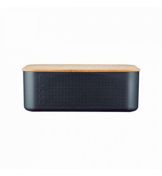 BODUM BISTRO Chlebak z drewnianą deską do krojenia 29,4 x 10,7 cm / czarny / Btrzy