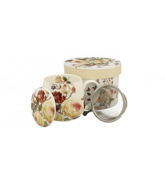 DUO ZAHRA Kubek baryłka z zaparzaczem 430 ml / porcelana