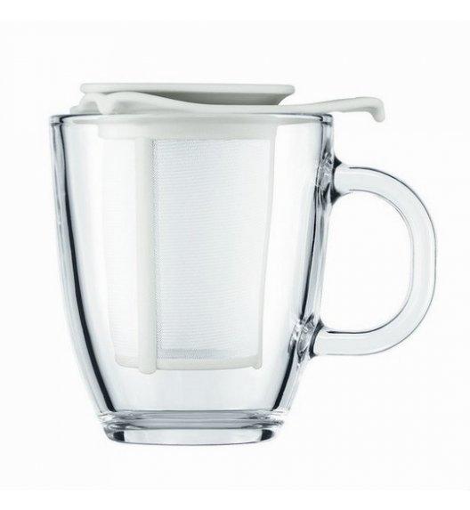 BODUM YO-YO Szklany kubek z zaparzaczem 350 ml / biały / Btrzy