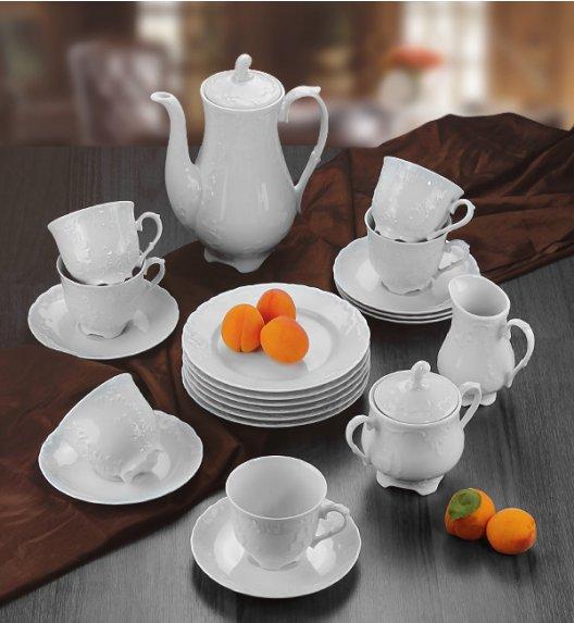 WYPRZEDAŻ! ĆMIELÓW ROCOCO Serwis kawowy 36 el / 12 osób / porcelana