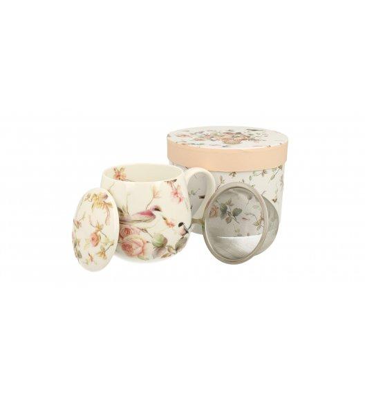 WYPRZEDAŻ! DUO ANNA Kubek 350 ml z metalowym zaparzaczem / porcelana wysokiej jakości / new Bone China