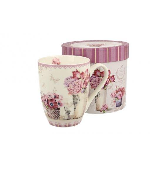 WYPRZEDAŻ! DUO MIA Kubek bullet porcelanowy 300 ml / różowe kwiaty
